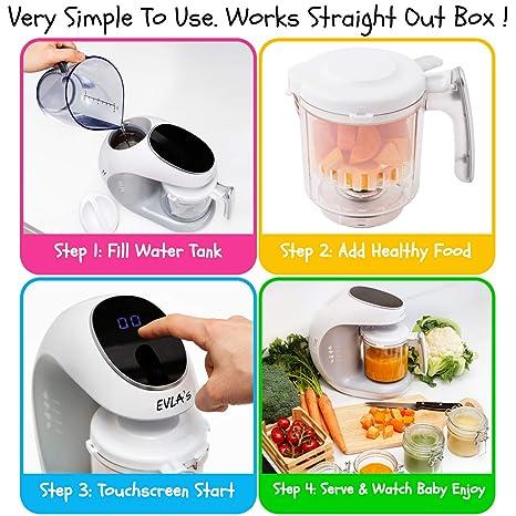 Amazon.com: Máquina de alimentos para bebés, licuadora para ...
