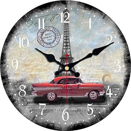 Vintage car themed clock