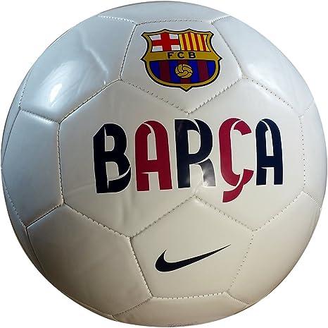 Nike FC Barcelona Equipo Logo balón de fútbol: Amazon.es: Deportes ...