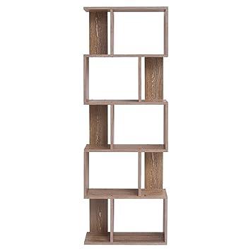 Mobili Rebecca® Bibliotheque Meuble de Rangement 5Etagères Bois ...