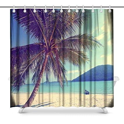 Amazon Com Tropical Island Palm Tree Paradise Beach Holiday