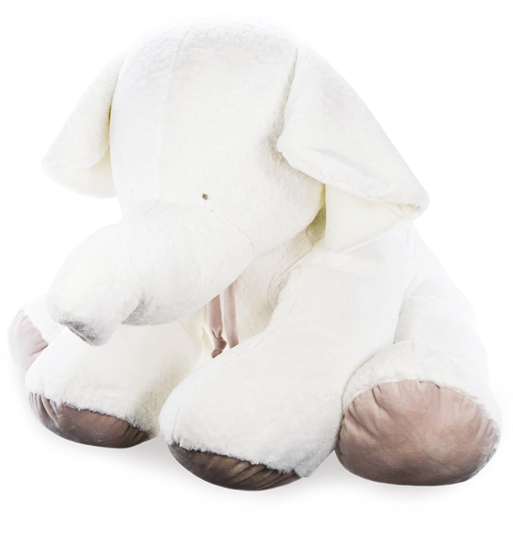Doudou et Compagnie - Elefante peluche, taglia a scelta, colore  tortora
