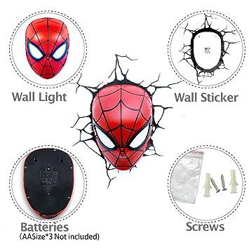Amazon marvel avengers 3d deco wall led marvel avengers 3d deco wall led night 3d spider mozeypictures Gallery