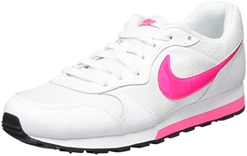 247f3c6c35 NIKE Girls' MD Runner 2 Low-Top Sneakers, (White/Hyper Pink-Black ...
