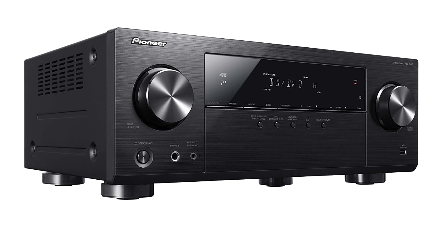 Amazon.com: Pioneer Surround Sound A/V Receiver - Black (VSX-532):  Electronics
