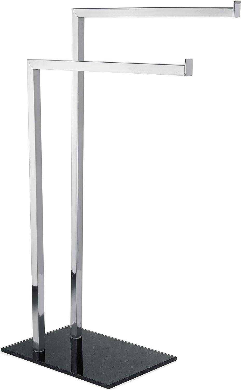 MSV 141320 Porte-Serviettes Acier Inoxydable Gris-Marron 30 x 20 x 15 cm