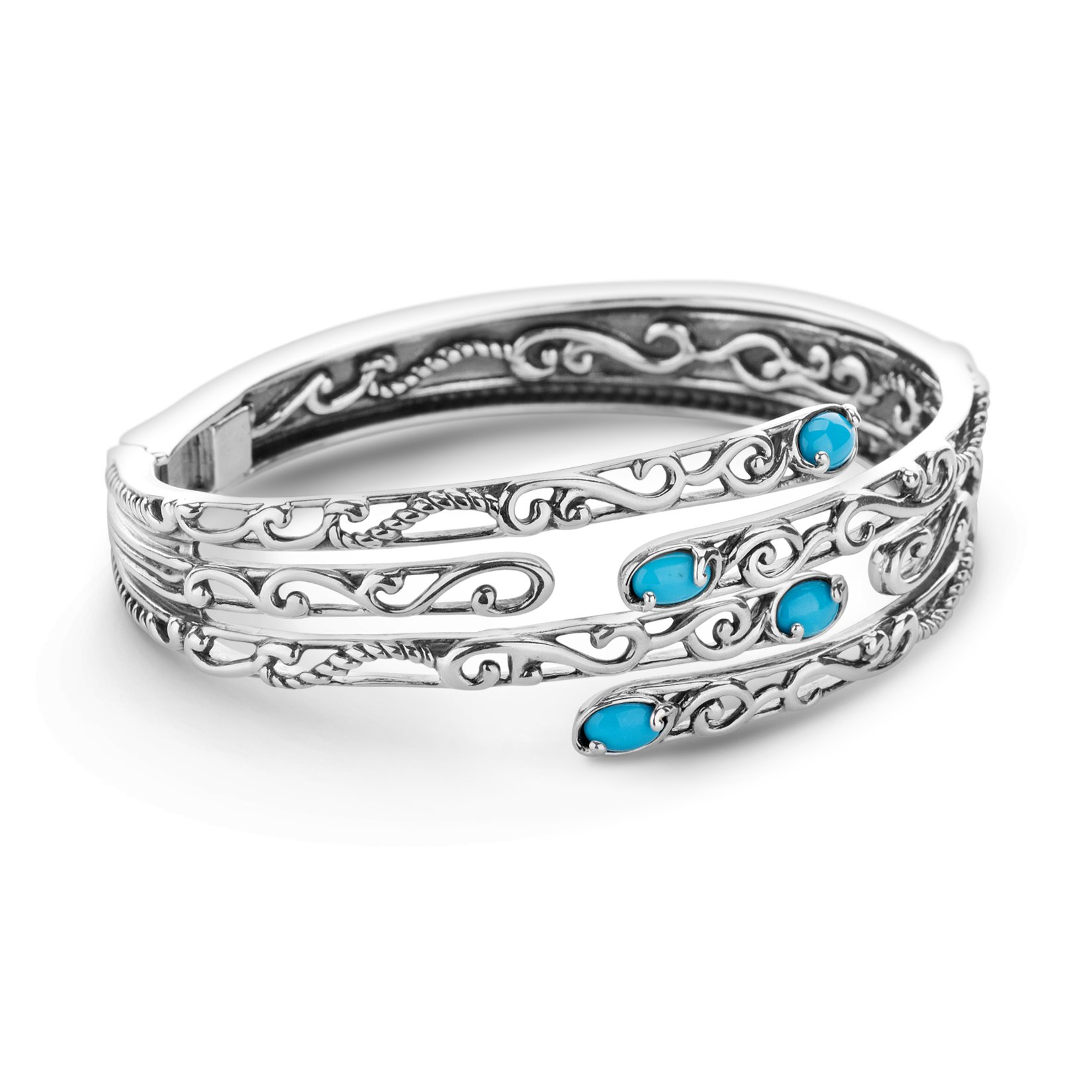 CP Signature Sleeping Beauty Turquoise Hinged Cuff Bracelet by Carolyn Pollack