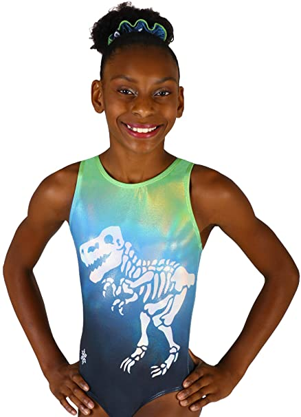 7bb5e3fd35cb Amazon.com   Snowflake Designs Dinosaur Sublimated Gymnastics or ...
