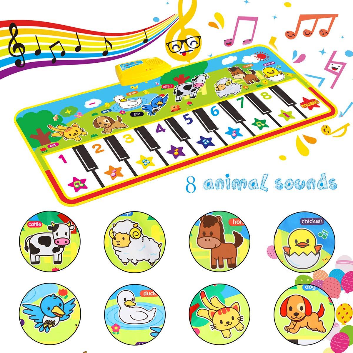 Alfombra para piano Alfombra de Teclado T/áctil Musical Touch Juego Musical Port/átil Electr/ónico Educativo Musical Tapete de Piano Teclas para Beb/é Ni/ño Ni/ña Regalo