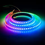 BTF-LIGHTING RGBW RGBCW White SK6812 (Similar WS2812B) 3.3ft 1m 144leds/pixels/m Individually Addressable Flexible 4 color in 1 LED Dream Color LED Strip Waterproof IP65 DC5V