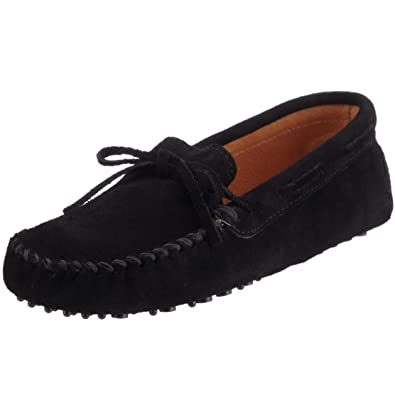 Minnetonka Men's Driving Moc Moccasin,Black Suede,7 M US