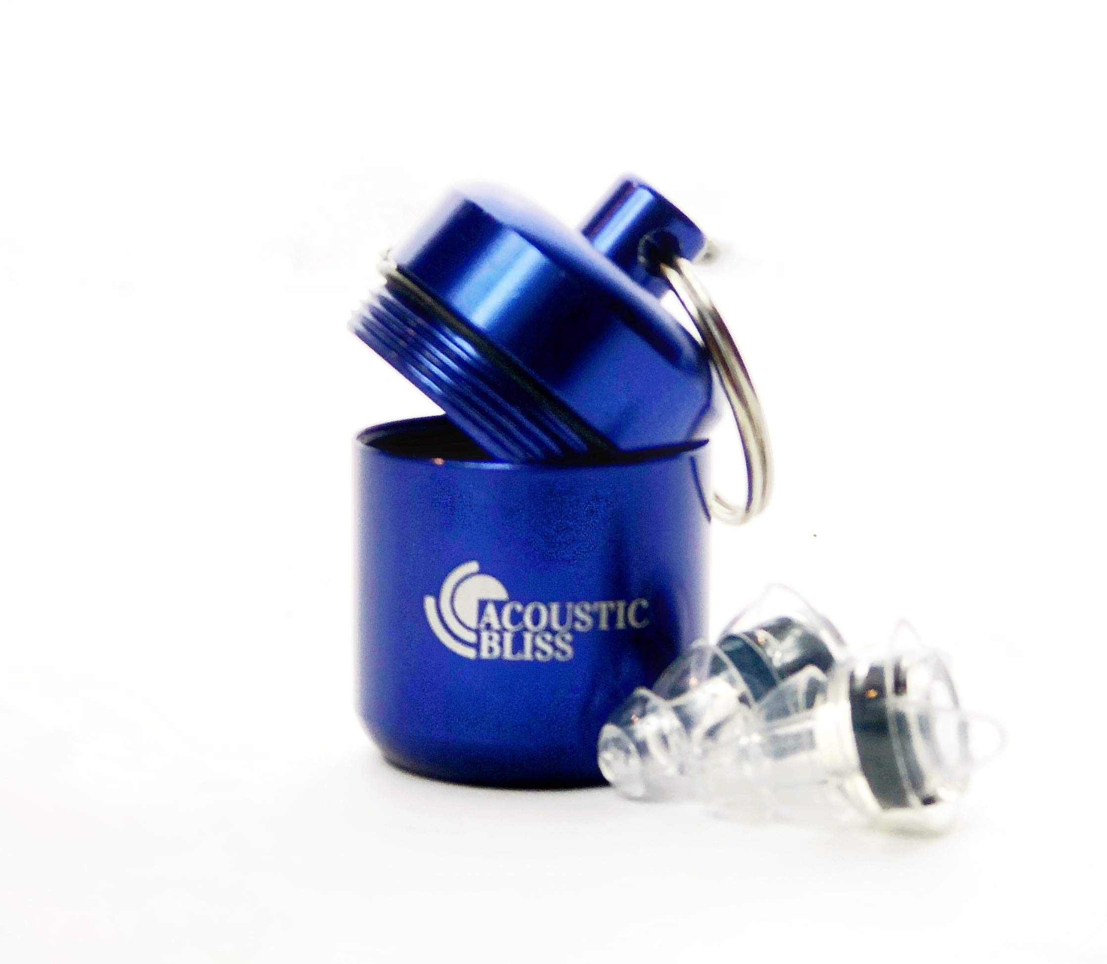 Acoustic Bliss High Fidelity Earplugs for Concerts, Bars, Noise Sensitivity, Parties, Racing (W/Premium Gift Box)