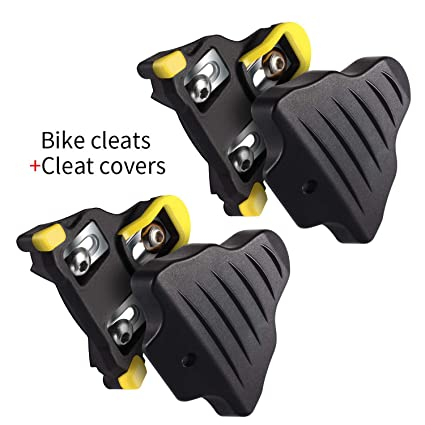 3c20ec637b2c LANNIU Road Bike Cleats+Cleat Covers Set,Compatible with Shimano SPD-SL  Pedals