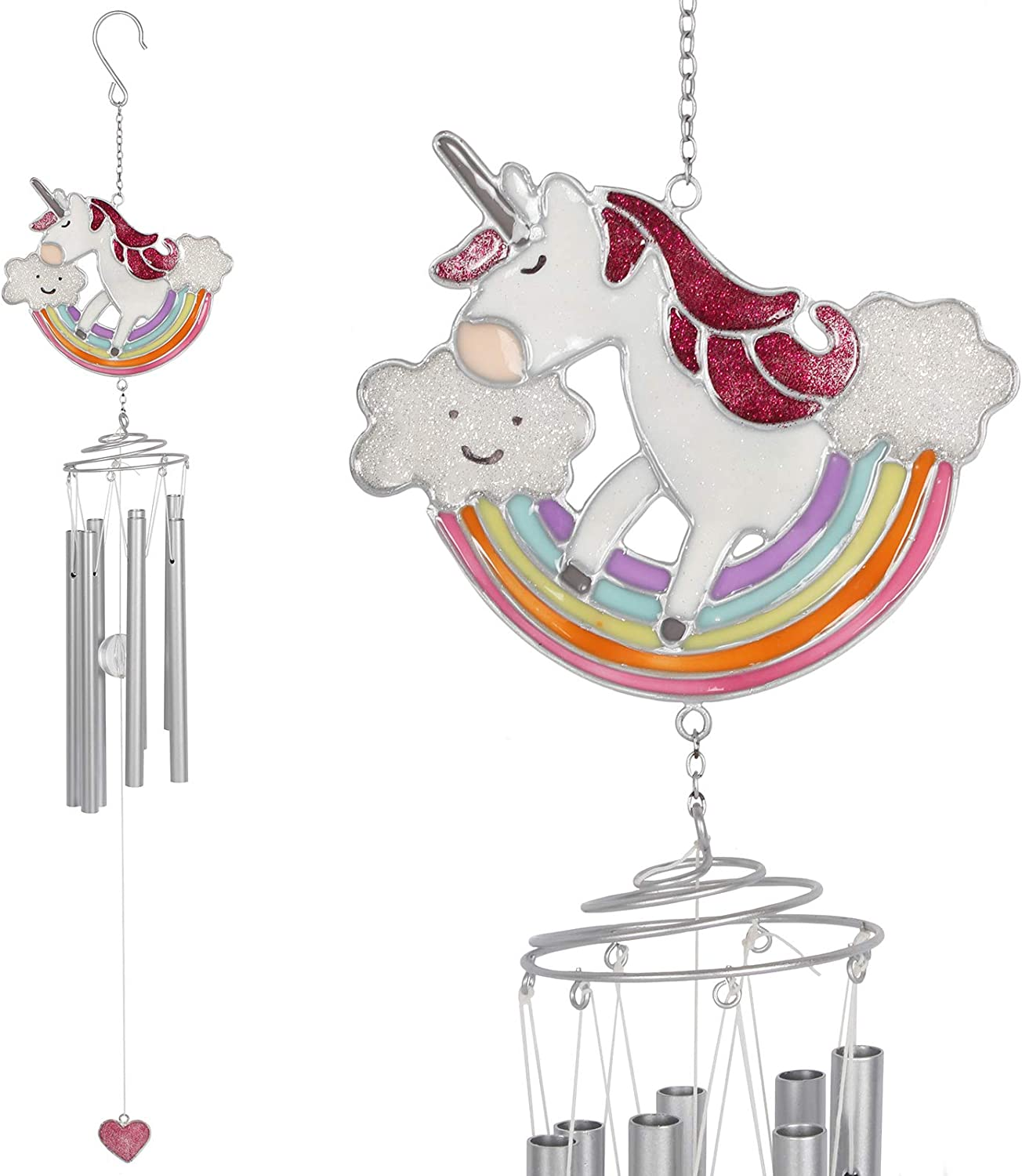 Jones Home & Gift Magical Rainbow Unicorn Windchime
