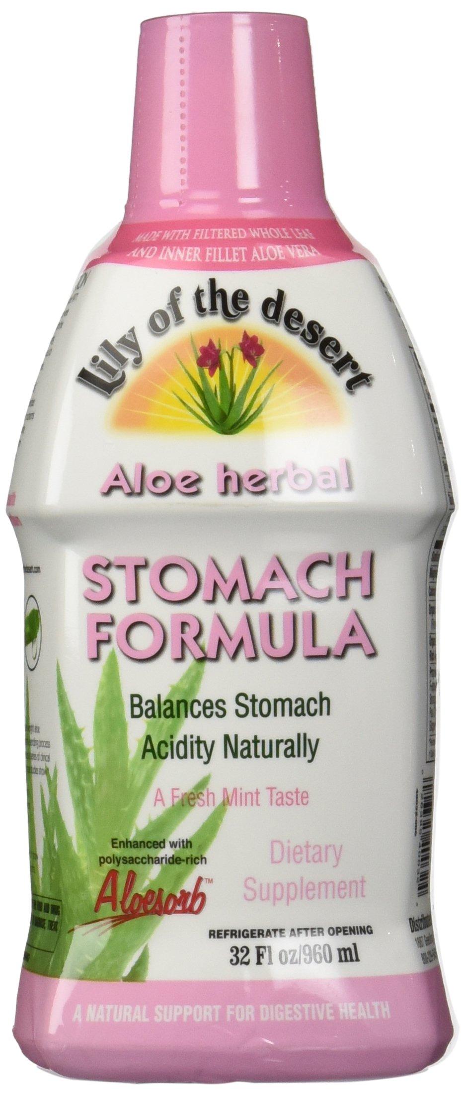 Lily of The Desert Aloe Herbal Stomach Formula 32 Fluid Ounce