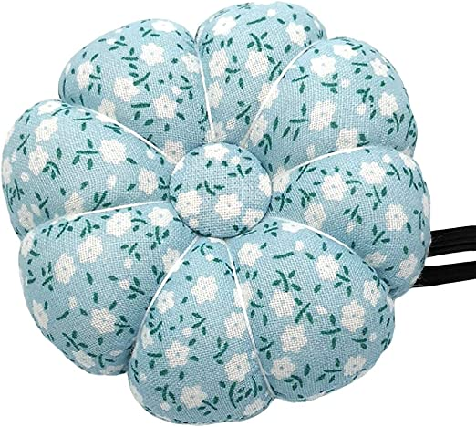 joyMerit Lovely Pumpkin Pincushions for Sewing and Quilting Style Blossom Fabric Coated Style 1