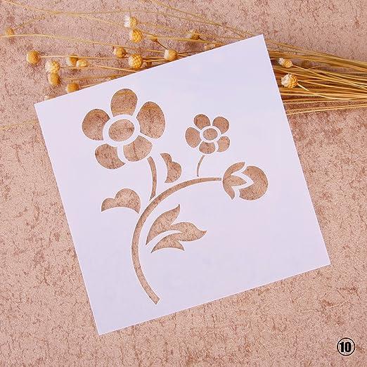 /álbumes de Recortes Plantilla de Pintura con aer/ógrafo para Manualidades RUNGAO decoraci/ón