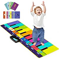 Joyjoz Barnmusikmatta med 100+ ljud, pianodansmatta uppgraderade 4 lägen, barntangentbordsmatta instrument musikalisk…
