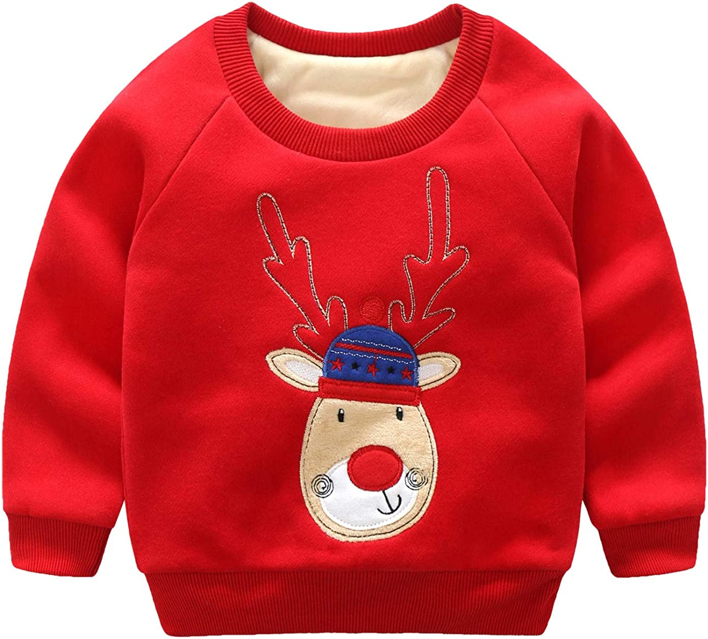 Haotong - Niñas Sudadera de Navidad con Mangas Largas Grueso ...