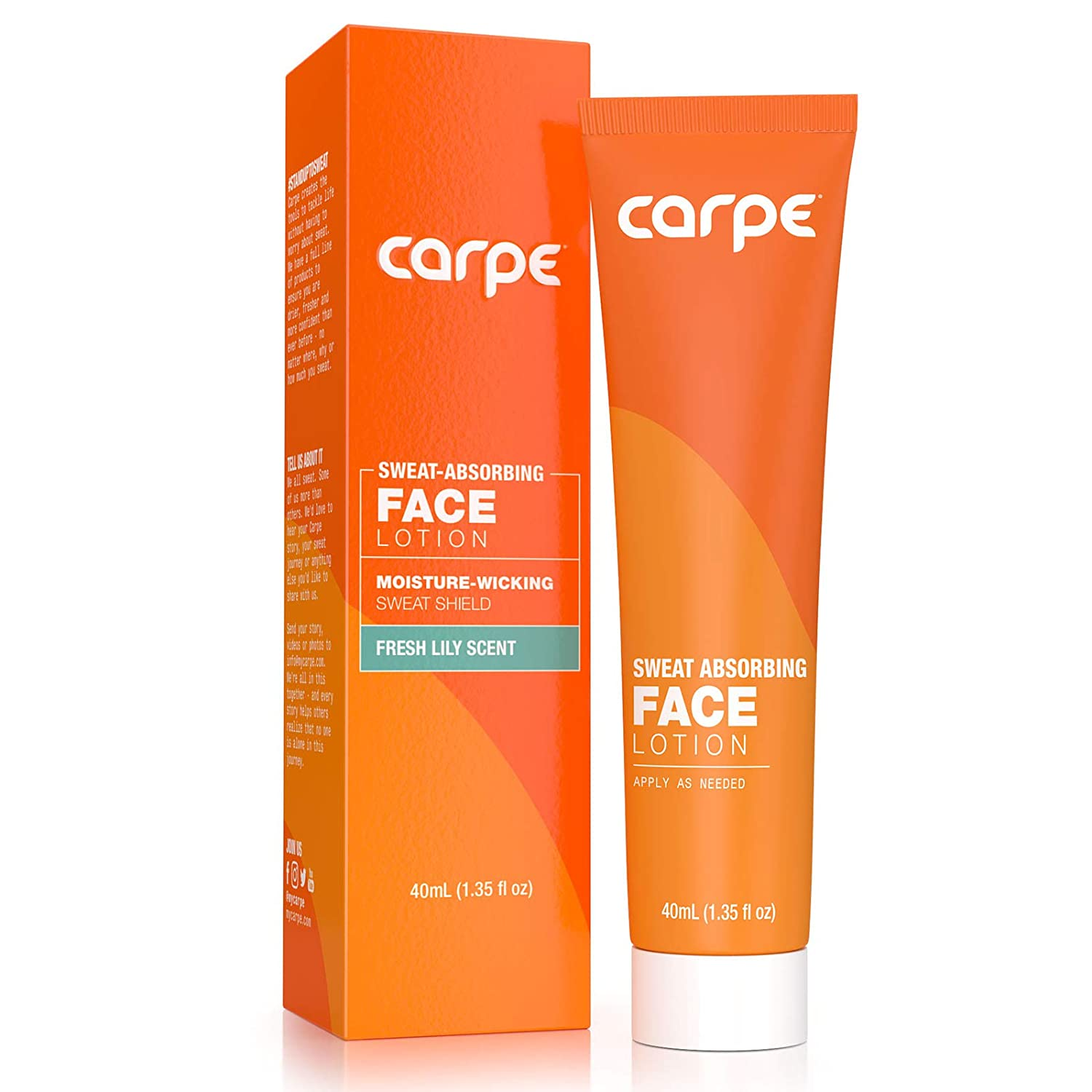 Carpe Sweat Absorbing Face - Helps Keep Your Face, Forehead, and Scalp Dry - Sweat Absorbing Gelled Lotion - Plus Oily Face Control - With Silica Microspheres and Jojoba Esters : Beauty