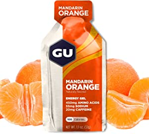 GU Energy Original Sports Nutrition Energy Gel, Mandarin Orange, 8 Count