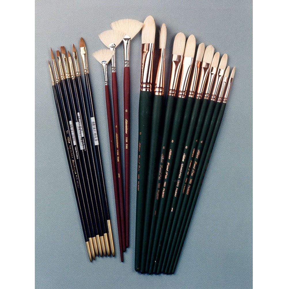 Silver Brush JHS-502 John Howard Sanden Portrait Student Brush Set, 20 Per Pack