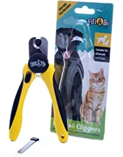 Professional-Grade Dog and Cat Nail Clippers by Fifi&Bo with Protective Guard, Safety Lock and Nail File - Best for Medium and Large Breeds.