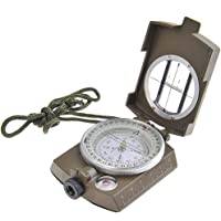 Skywalk Professional Multifunction Military Army Metal Sighting Compass (Green)