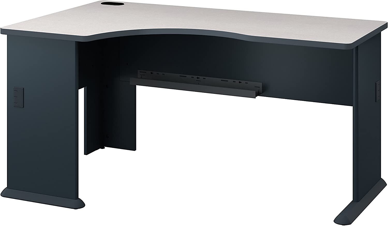 Bush Business Furniture Series A Left Corner Desk in Slate and White Spectrum