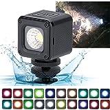 ledビデオライト 充電式 ホットシュー ポケット小型 ビデオカメラ用 撮影照明用 超高演色性 防水IP67 多機能 登山アドベンチャーモバイル写真