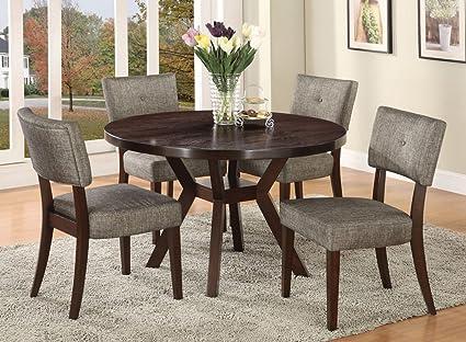 Amazon.com - Acme Furniture Top Dining Table Set Espresso Finish ...