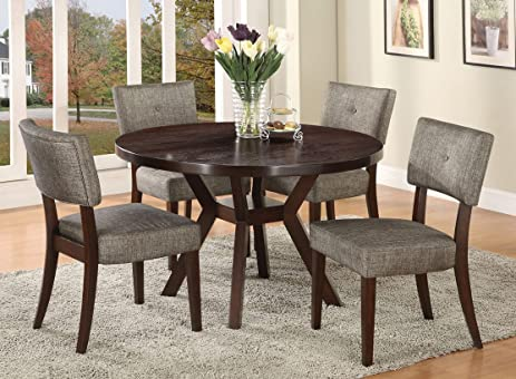 acme furniture top dining table set espresso finish drake collection 4 chairs - Dining Table 4 Chairs