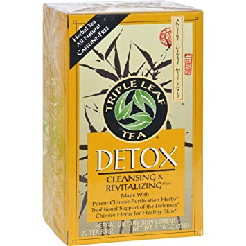 Triple Leaf Tea, Tea Bags, Detox, 1.16-Ounce Bags, 20-Count Boxes Pack of 12