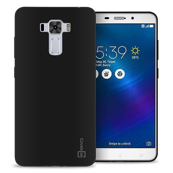 save off caee6 754de Asus Zenfone 3 Laser Case, CoverON [FlexGuard Series] Slim Soft Flexible  TPU Rubber Phone Cover Case for Asus Zenfone 3 Laser ZC551KL - Black