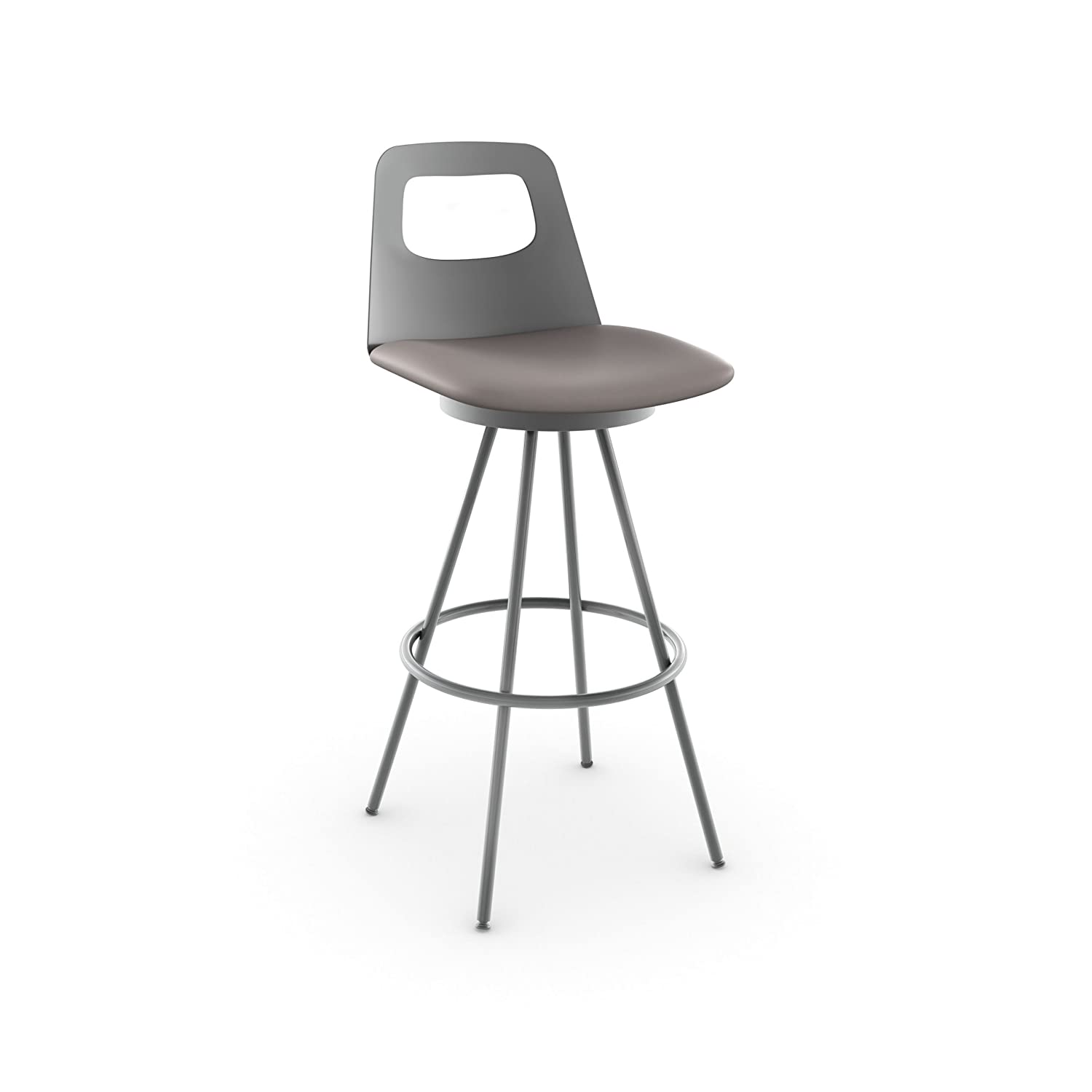Amazon.com Amisco Ovo Swivel Metal Counter Stool with Backrest 26-Inch Magnetite/Pewter Kitchen u0026 Dining  sc 1 st  Amazon.com & Amazon.com: Amisco Ovo Swivel Metal Counter Stool with Backrest ... islam-shia.org