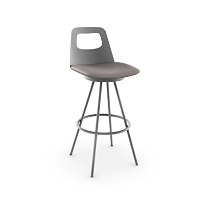 Awesome Amazon Com Amisco Ovo Swivel Metal Counter Stool With Bralicious Painted Fabric Chair Ideas Braliciousco
