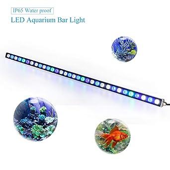 Roleadro Led Acuario 115cm 108w,36 LEDs Lampara Acuario con UV Led Acuario Impermeable IP