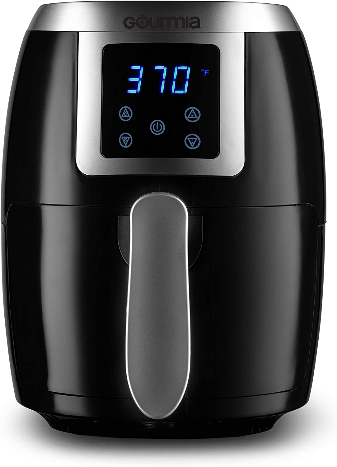 Gourmia GAF228 2.2 Qt Digital Air Fryer – Oil-Free Healthy Cooking – Digital Controls – Removable, Dishwasher-Safe Pan and Tray – Free Recipe Book Included
