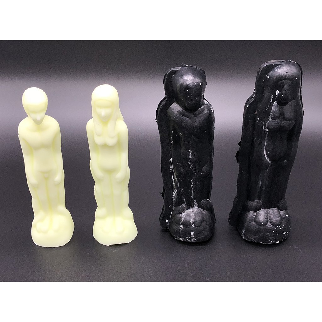 Baoblaze 2 Pieces//set Plastic Men Women Shaped Candle Mold Soap Mould Tools for Handmade Ornament DIY Candle Making Craft Supplies 200mm