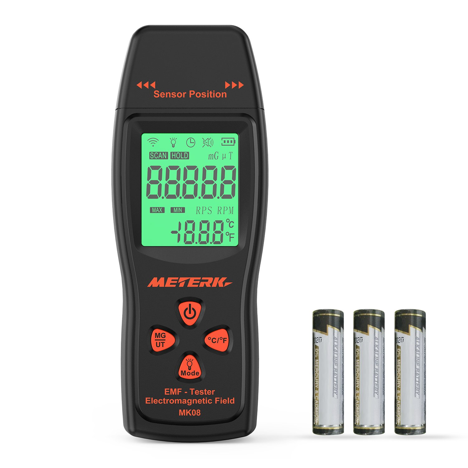 Meterk EMF Meter Electromagnetic Field Radiation Detector Handheld Mini Digital LCD EMF Detector Dosimeter Tester Counter by Meterk