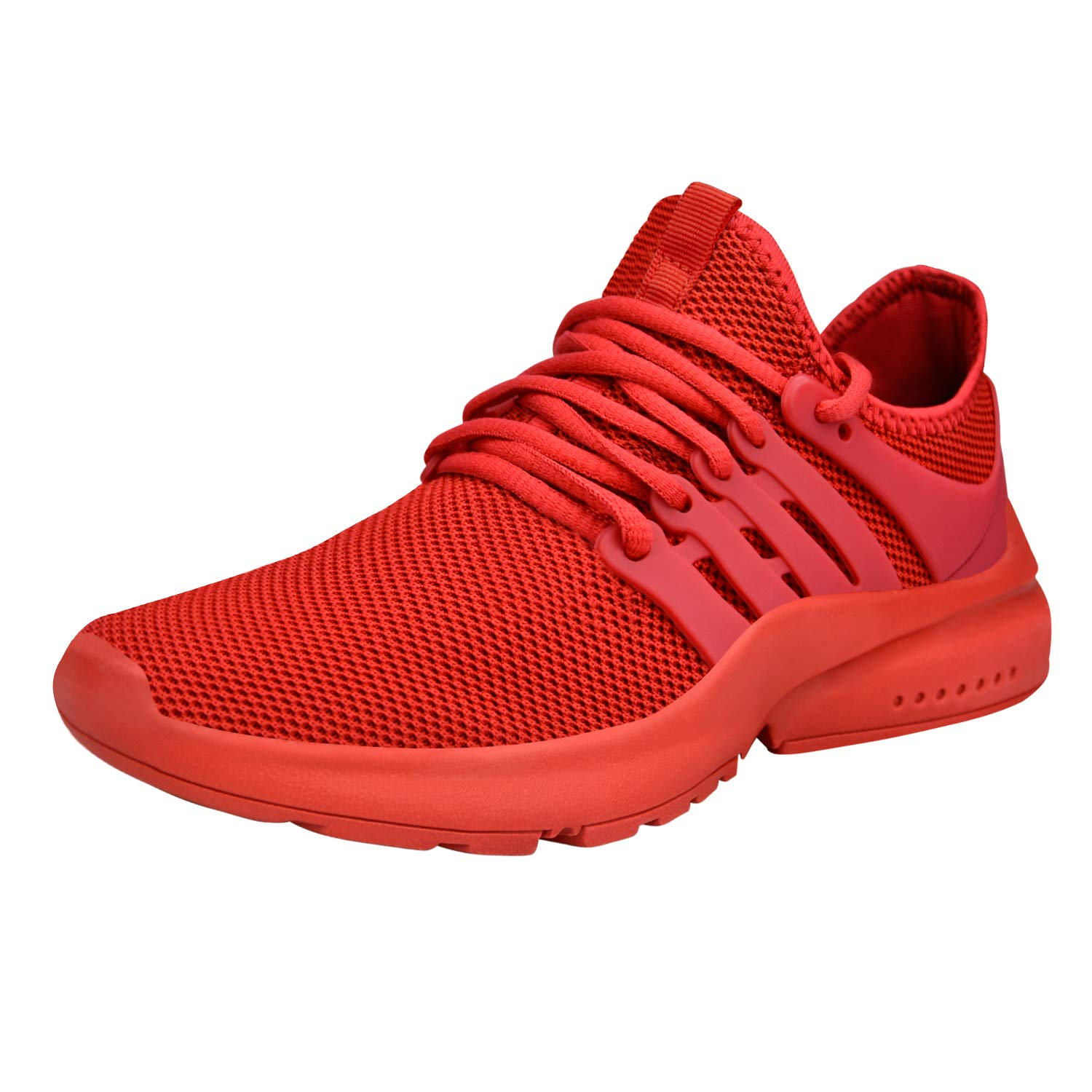Red ZOCAVIA Women's Sneakers Breathable Mesh Sport Running