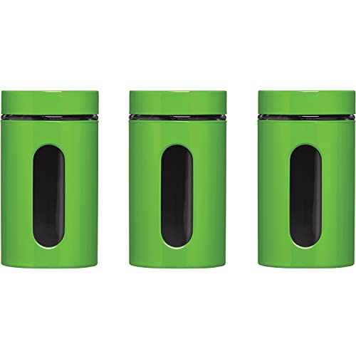 Premier Housewares Set of 3 Lime Green Storage Canisters