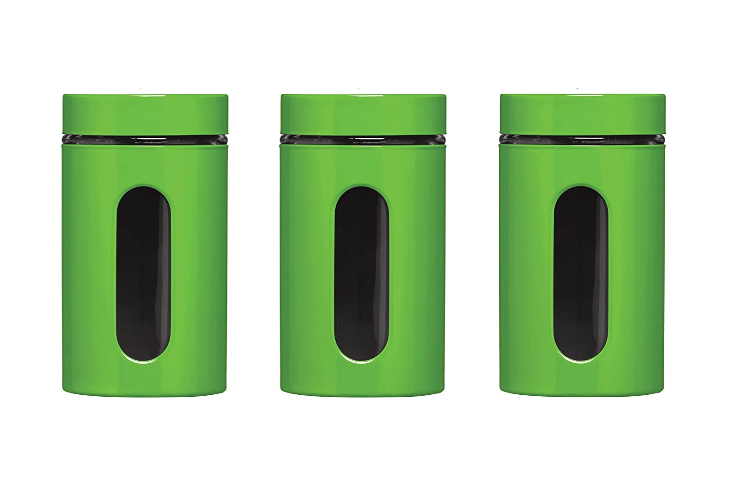Premier Housewares Storage Canisters   Green, Set Of 3: Amazon.co.uk:  Kitchen U0026 Home