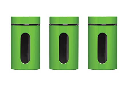 Favorite Premier Housewares Storage Canisters - Green, Set of 3: Amazon.co  AE45