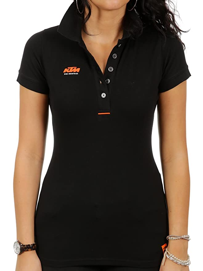 Ktm polo para mujer Factory Lady Team negro (L, negro): Amazon.es ...
