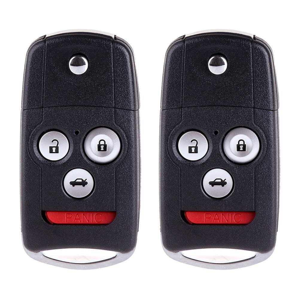 Pack of 2 ECCPP Replacement fit for Uncut Keyless Entry Remote Control Car Key Fob Shell Case Honda Accord//Acura MDX//Acura RDX//Acura TL//Acura TSX//Acura ZDX IYZFBSB802