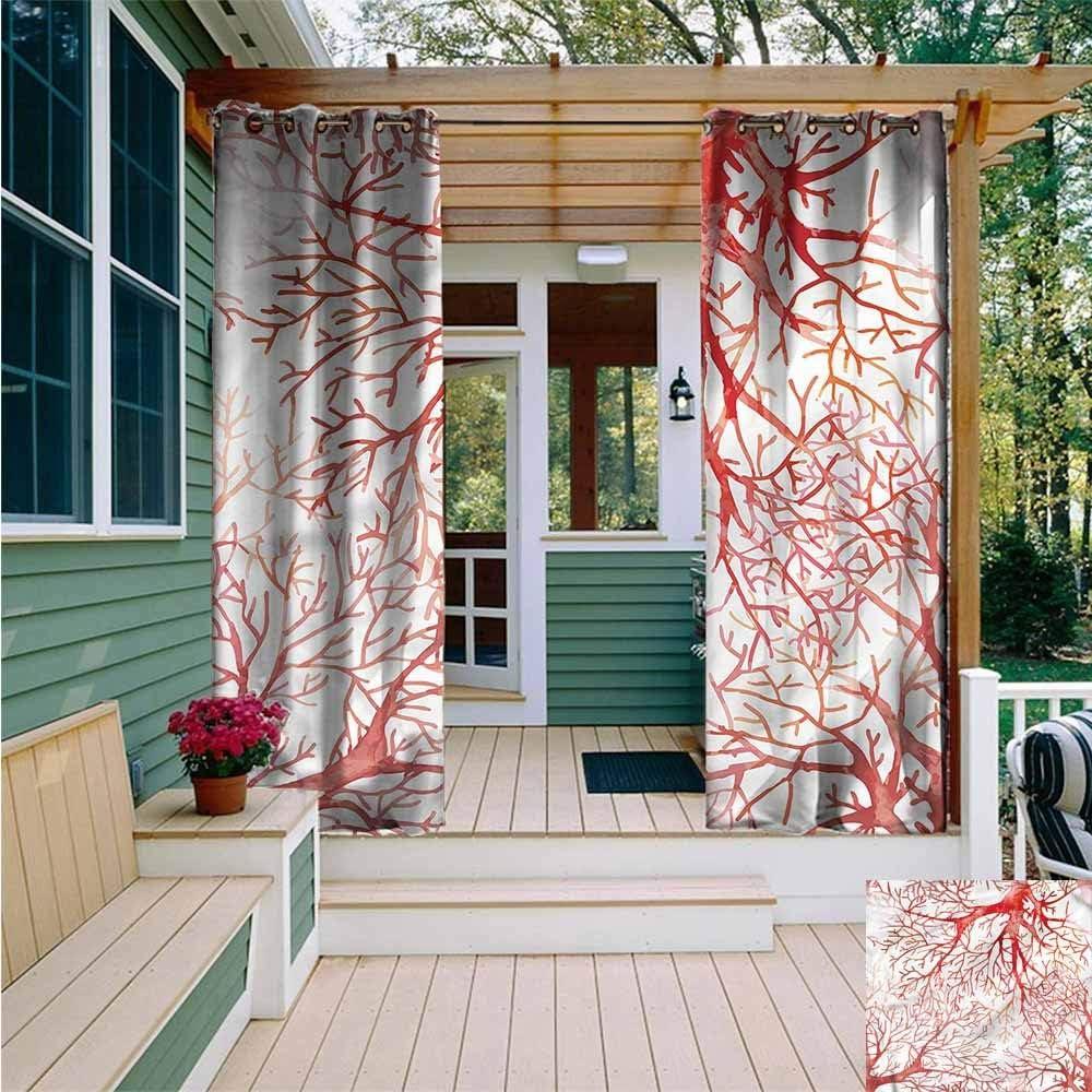 Beihai1Sun - Cortina de pérgola de Coral, Estilo Vintage, con Arandelas para Dormitorio, Color Coral: Amazon.es: Jardín