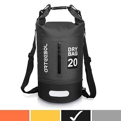 c5987cc0f6 arteesol Waterproof Bag 5L/10L/20L/30L Dry Bag Rucksack with Double Shoulder