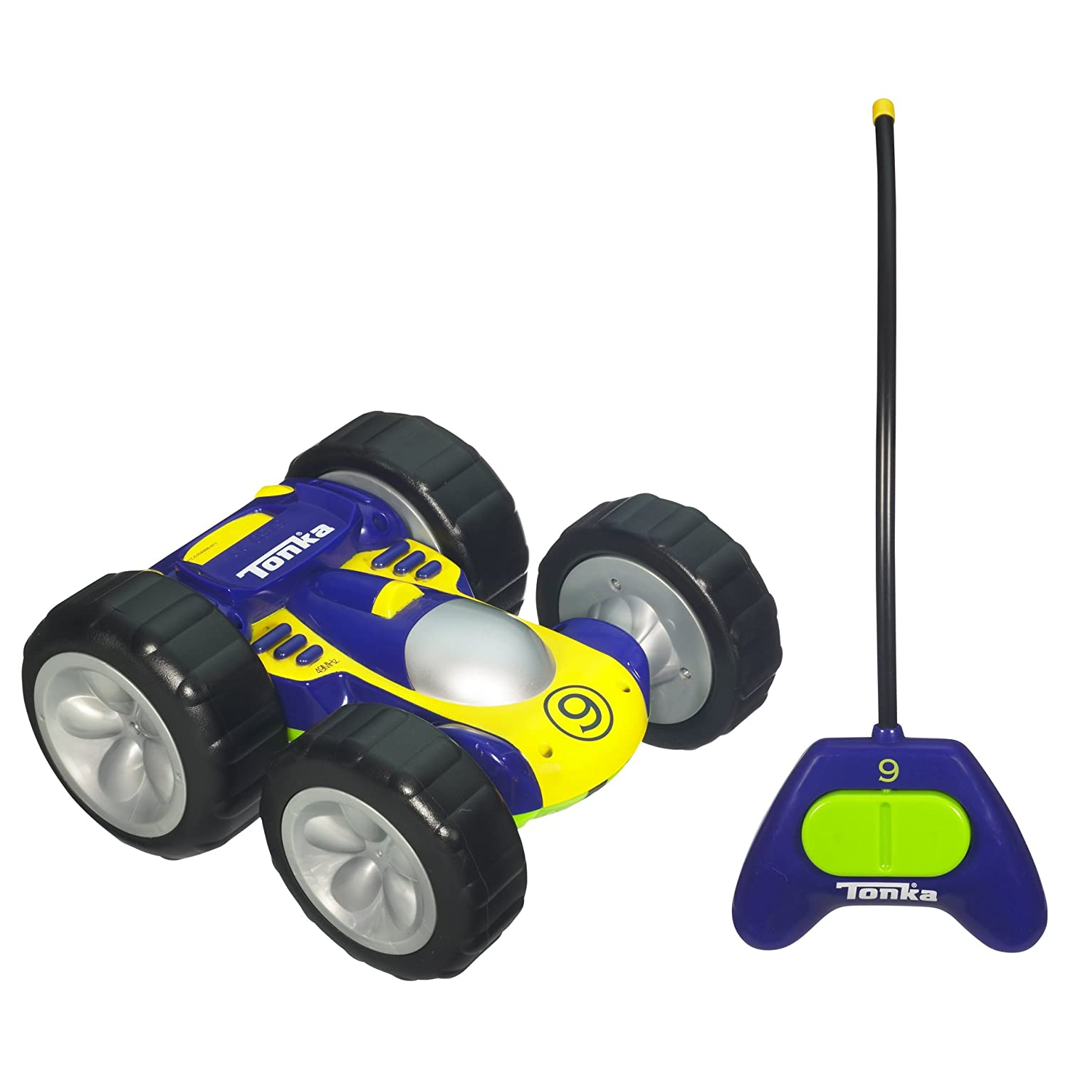 Amazon Bounceback RC Racer Blue Yellow one side with Green