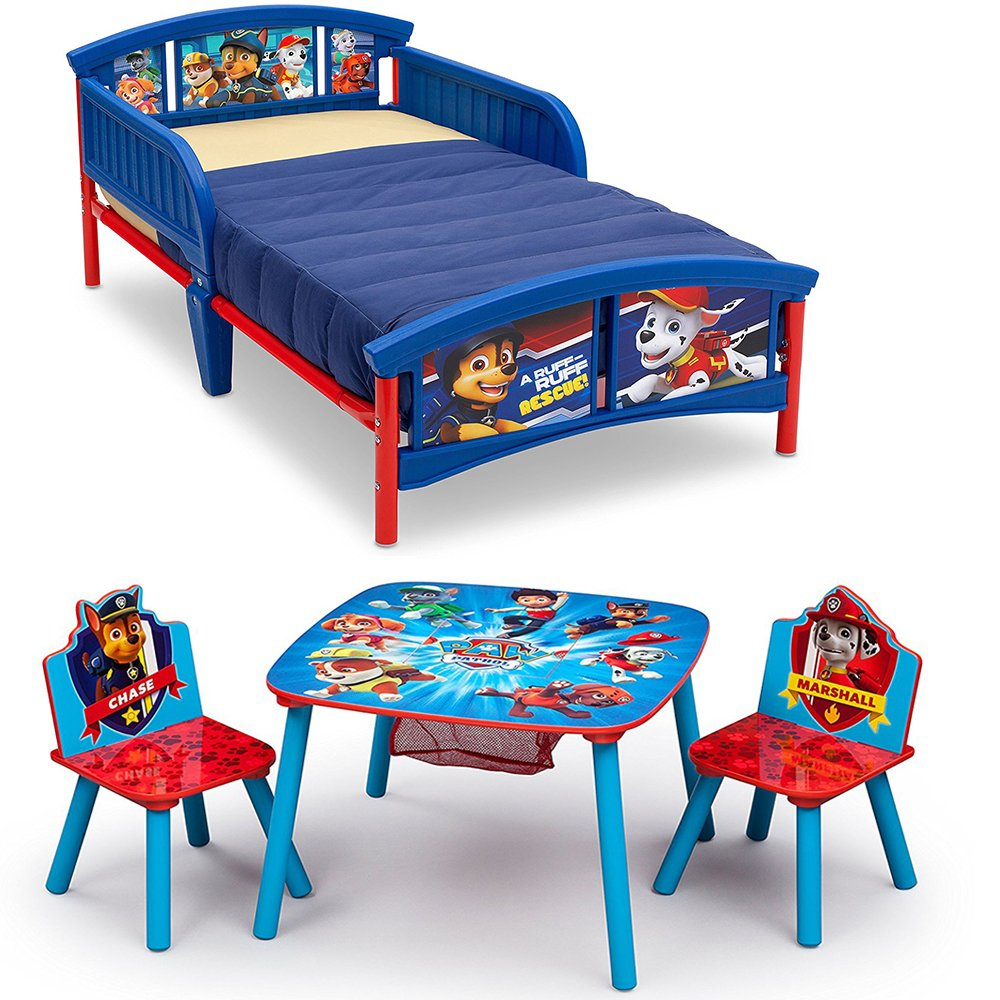 Amazing Amazon Com Nick Jr Paw Patrol Plastic Toddler Bed W Table Creativecarmelina Interior Chair Design Creativecarmelinacom